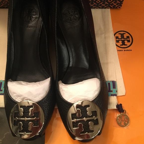 04e21df205e53b Tory Burch Shoes - Tory Burch sally open peep toe wedge size 6.5